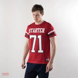 T-shirt starter rossa con numeri