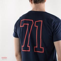 dettaglio dietro t-shirt starter blu america