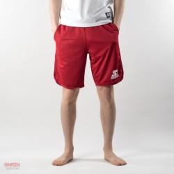 Pantaloni corti basket starter rossi