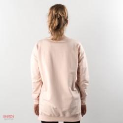 dietro felpa rosa starter con logo brillantini