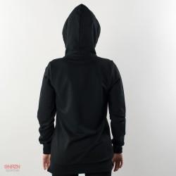 dietro felpa zip e cappuccio starter nera