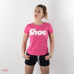 T-shirt donna shoeshine fuxia