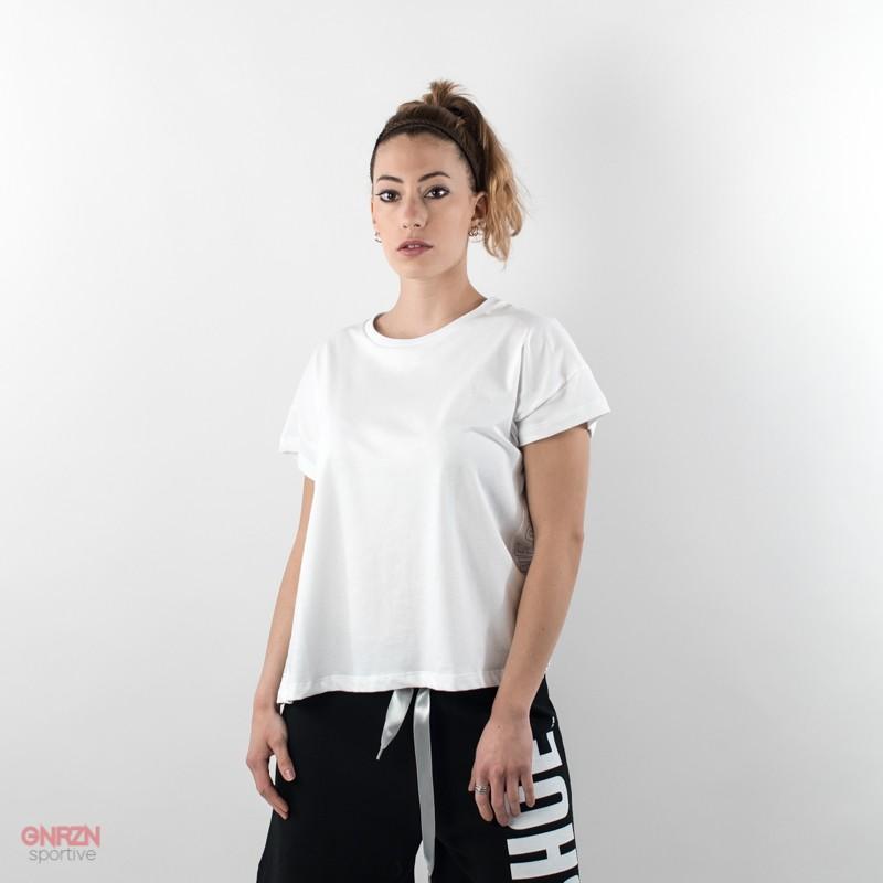 t-shirt donna shoeshine bande bianca