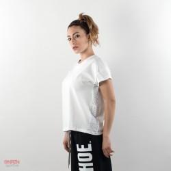 lato t-shirt shoeshine bande bianca