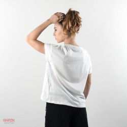 dietro t-shirt shoeshine bande bianca