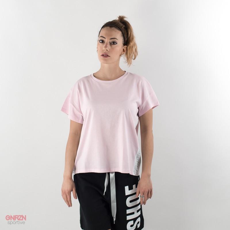 t-shirt donna shoeshine bande rosa