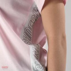 dettaglio t-shirt shoeshine bande rosa