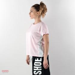 lato t-shirt shoeshine bande rosa