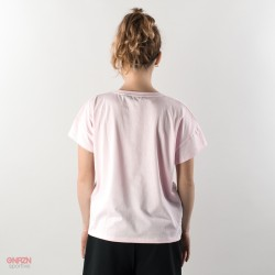 dietro t-shirt shoeshine bande rosa