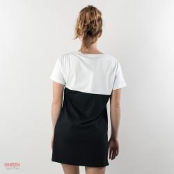 dietro t-shirt lunga donna shoeshine