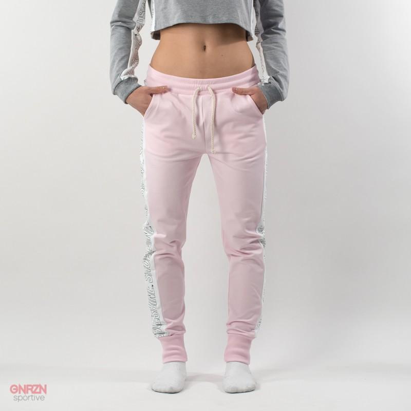 Pantaloni rosa con bande shoeshine
