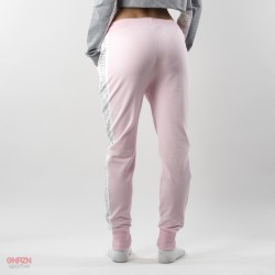 dietro pantaloni rosa con bande shoeshine