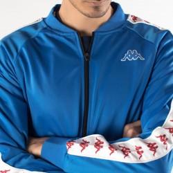 giacca kappa blu banda 222 dettaglio