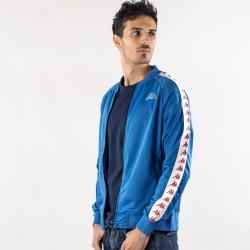 giacca kappa blu banda 222 lato