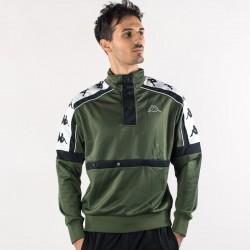 giacca kappa verde banda 10