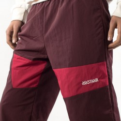 Pantaloni AsicsTiger bordeaux dettaglio