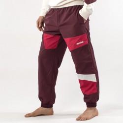 Pantaloni AsicsTiger bordeaux lato