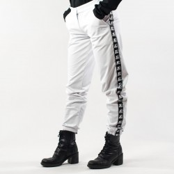 Pantalone Starter banda bianco lato